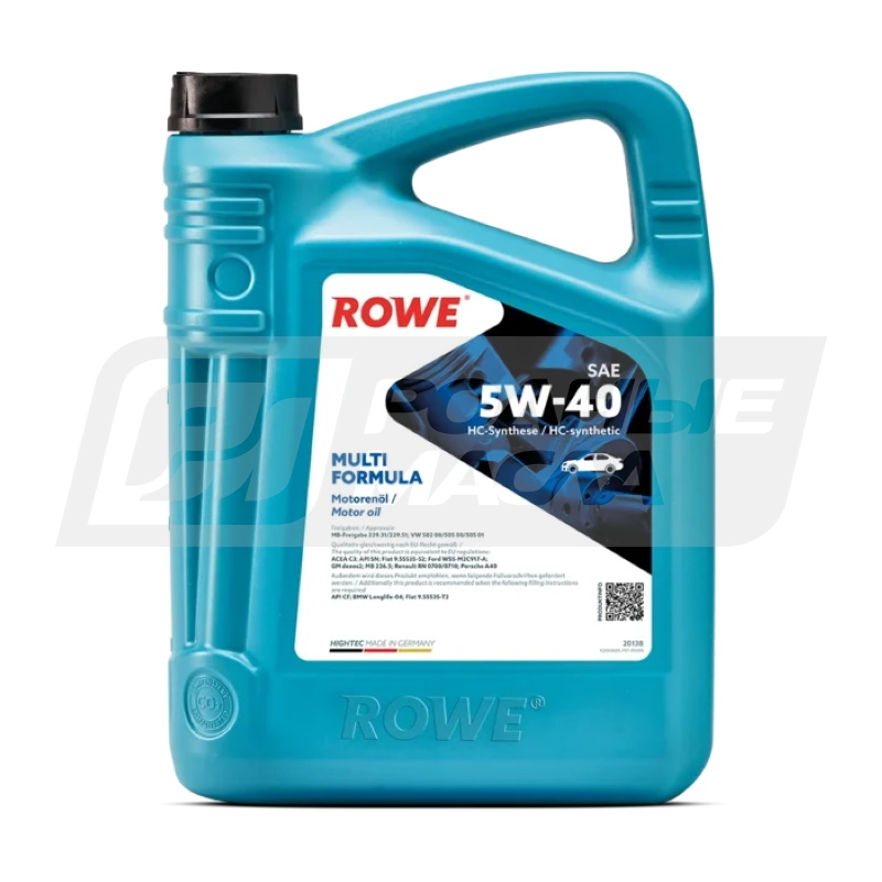 ROWE HIGHTEC MULTI FORMULA 5W40, 4л 20138-0040